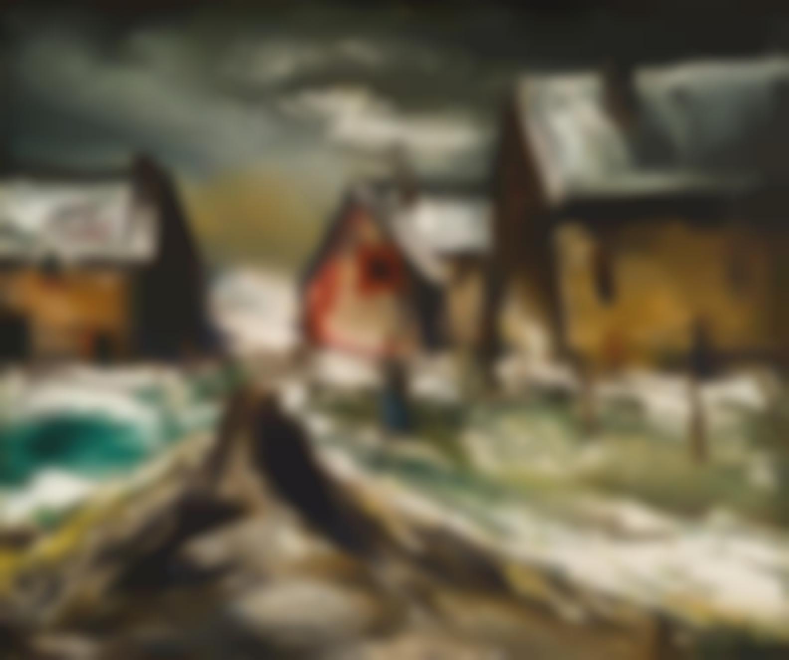 Maurice de Vlaminck-Hameau Sous La Neige-
