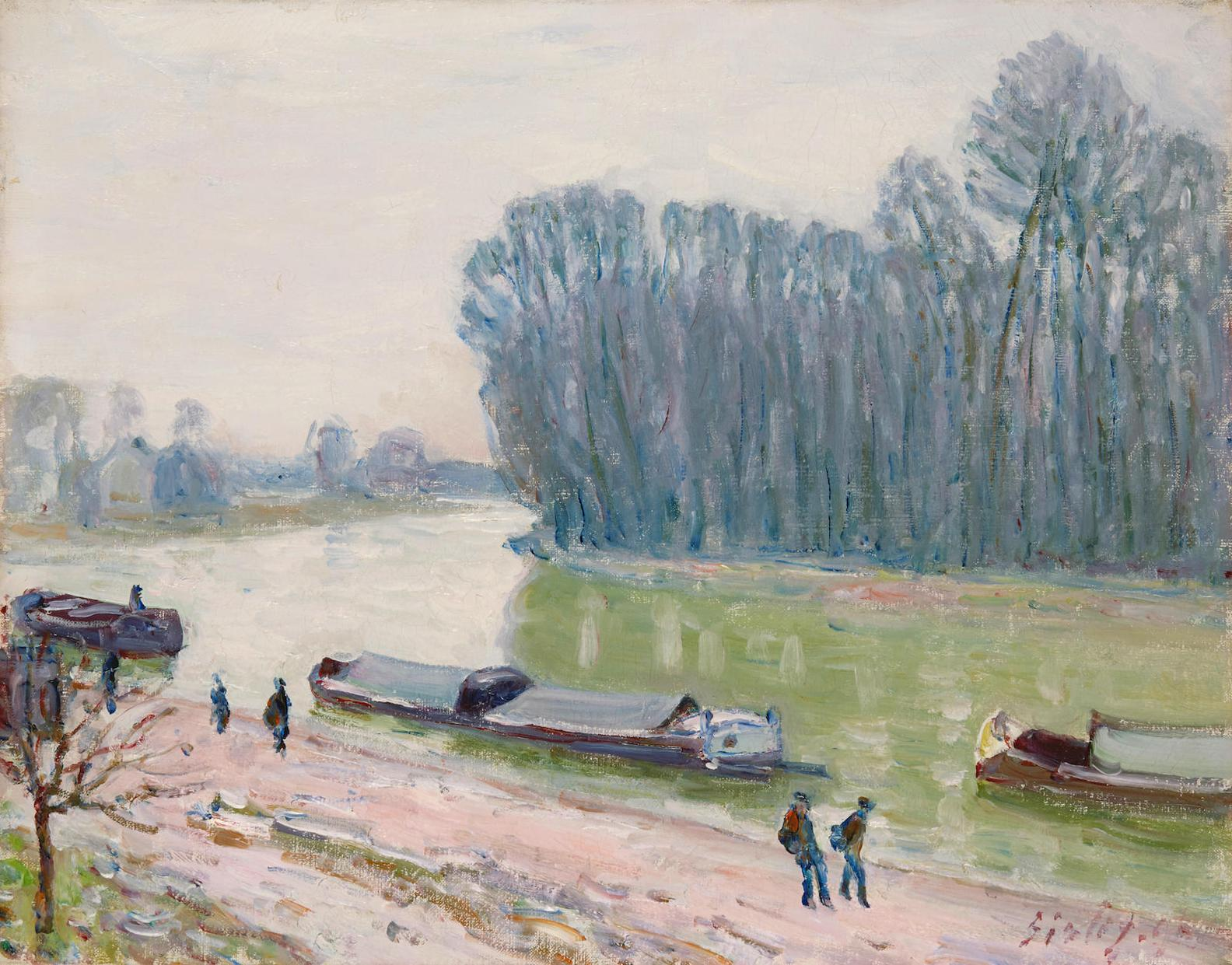 Alfred Sisley-Peniches Sur Le Loing-1896