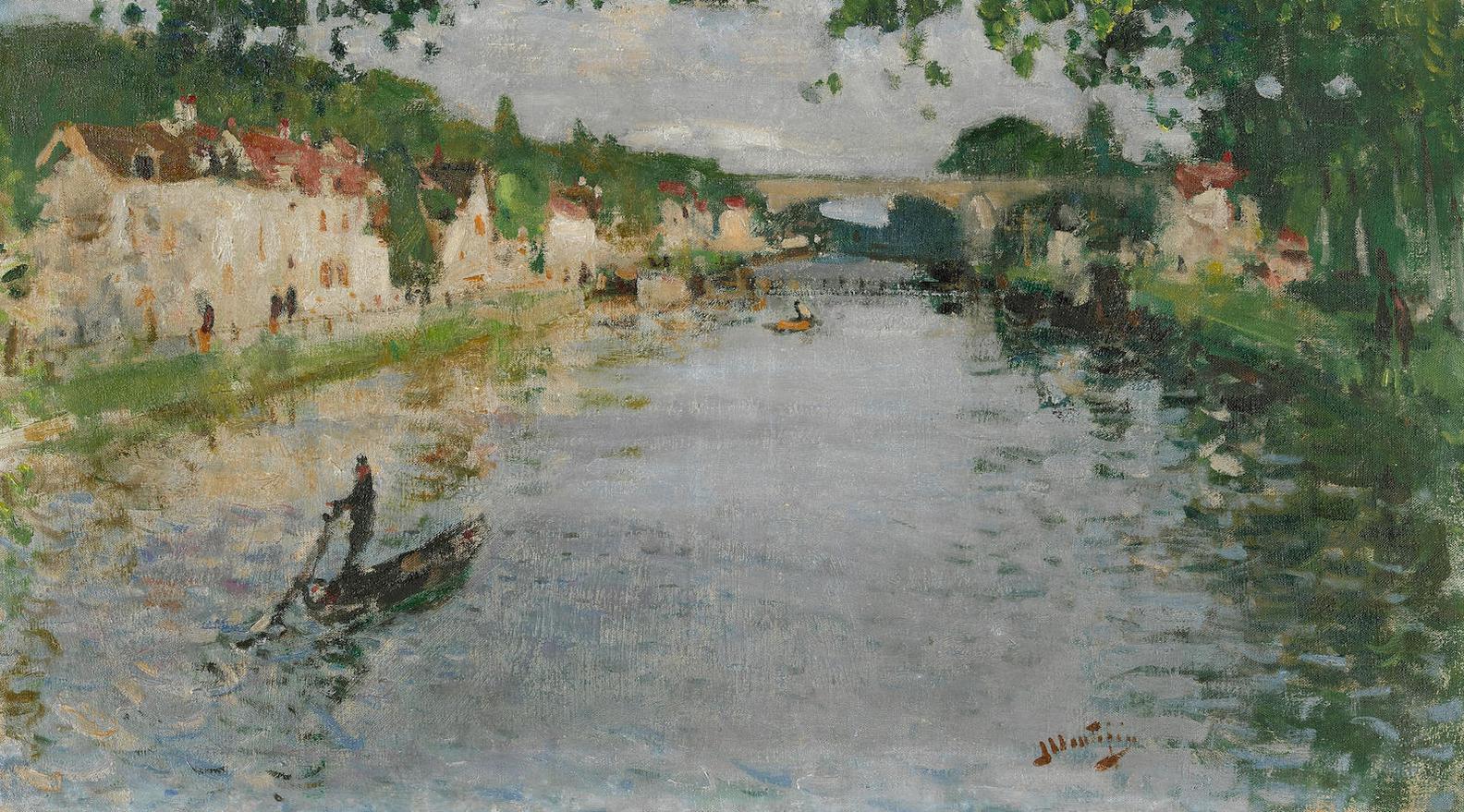 Pierre Eugene Montezin-Scene De Bateau-1945