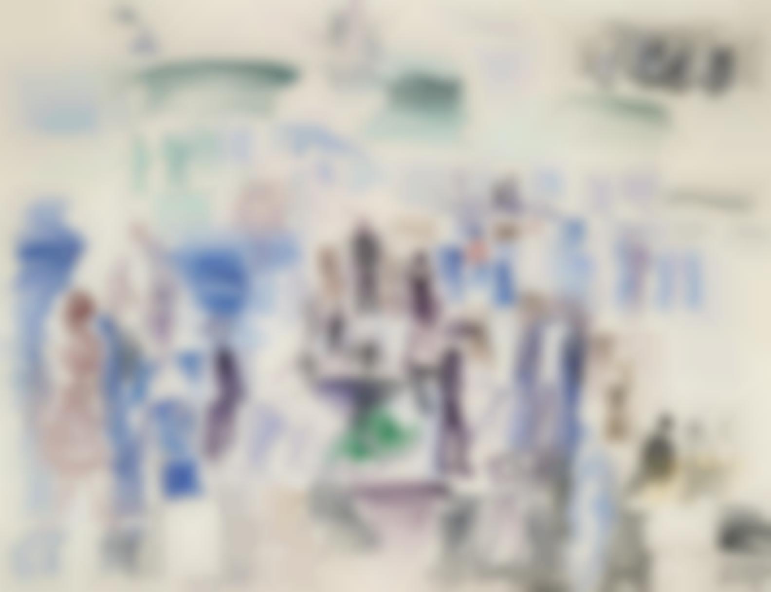 Raoul Dufy-Personnages Sur La Plage-1924
