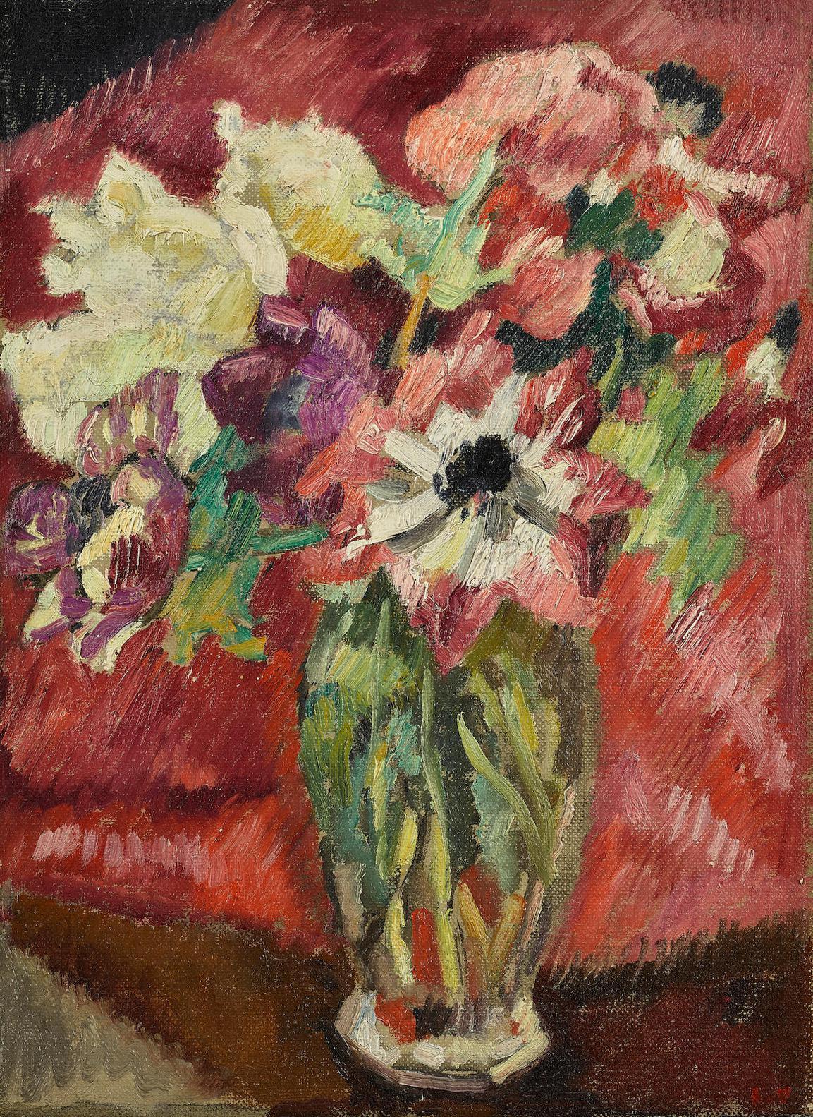 Louis Valtat-Bouquet Au Vase De Crystal-1935