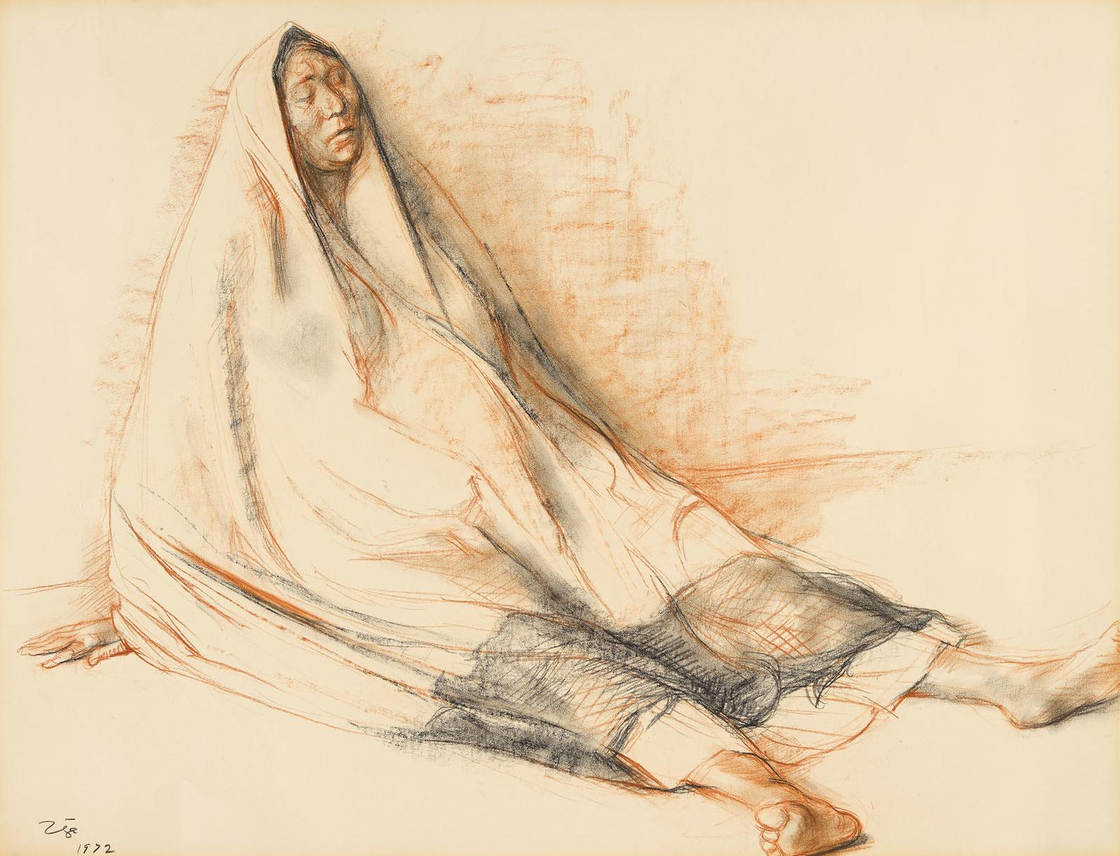 Francisco Zuniga-Mujer Sentada-1972