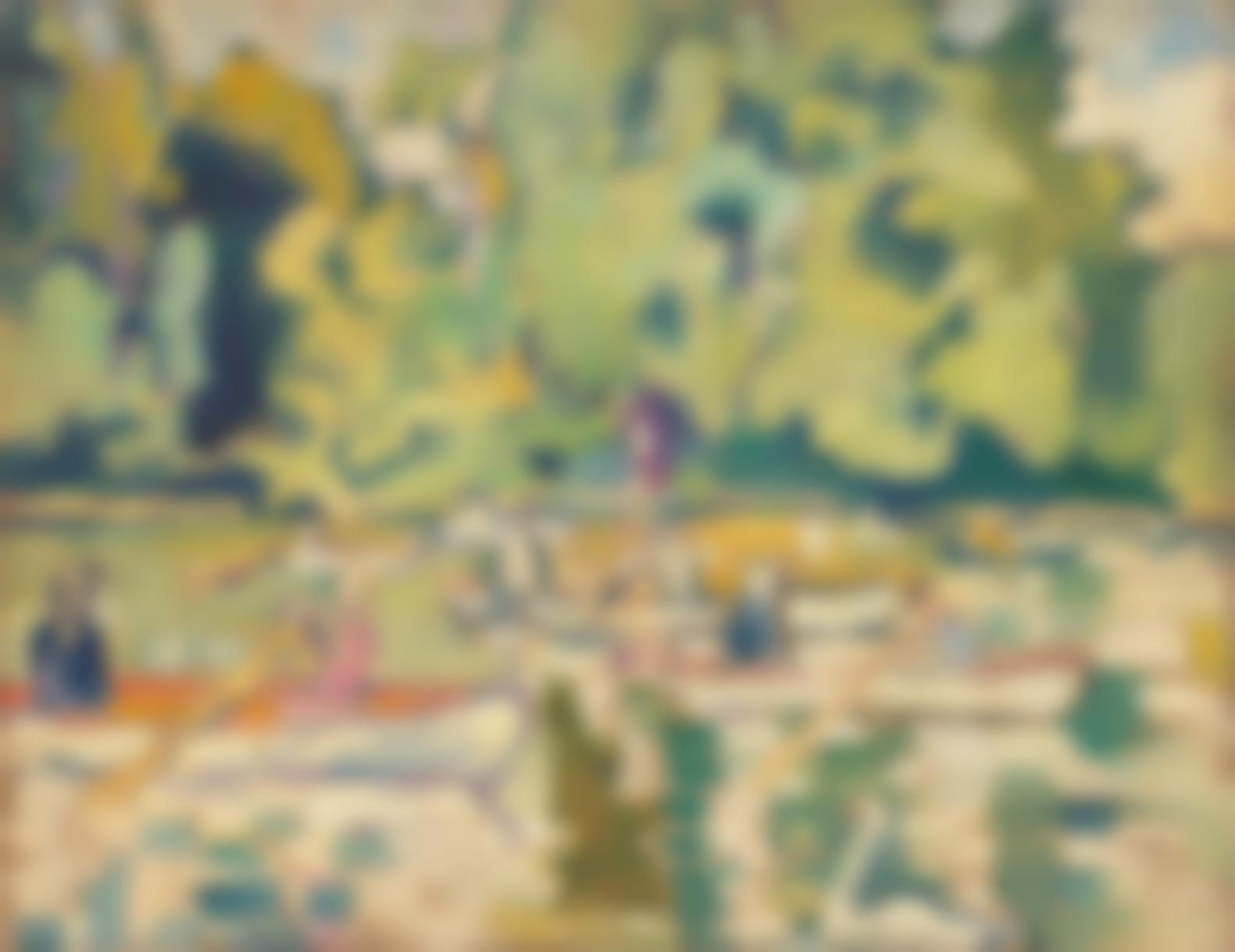 Louis Valtat-Barques Au Bois De Boulogne-1938