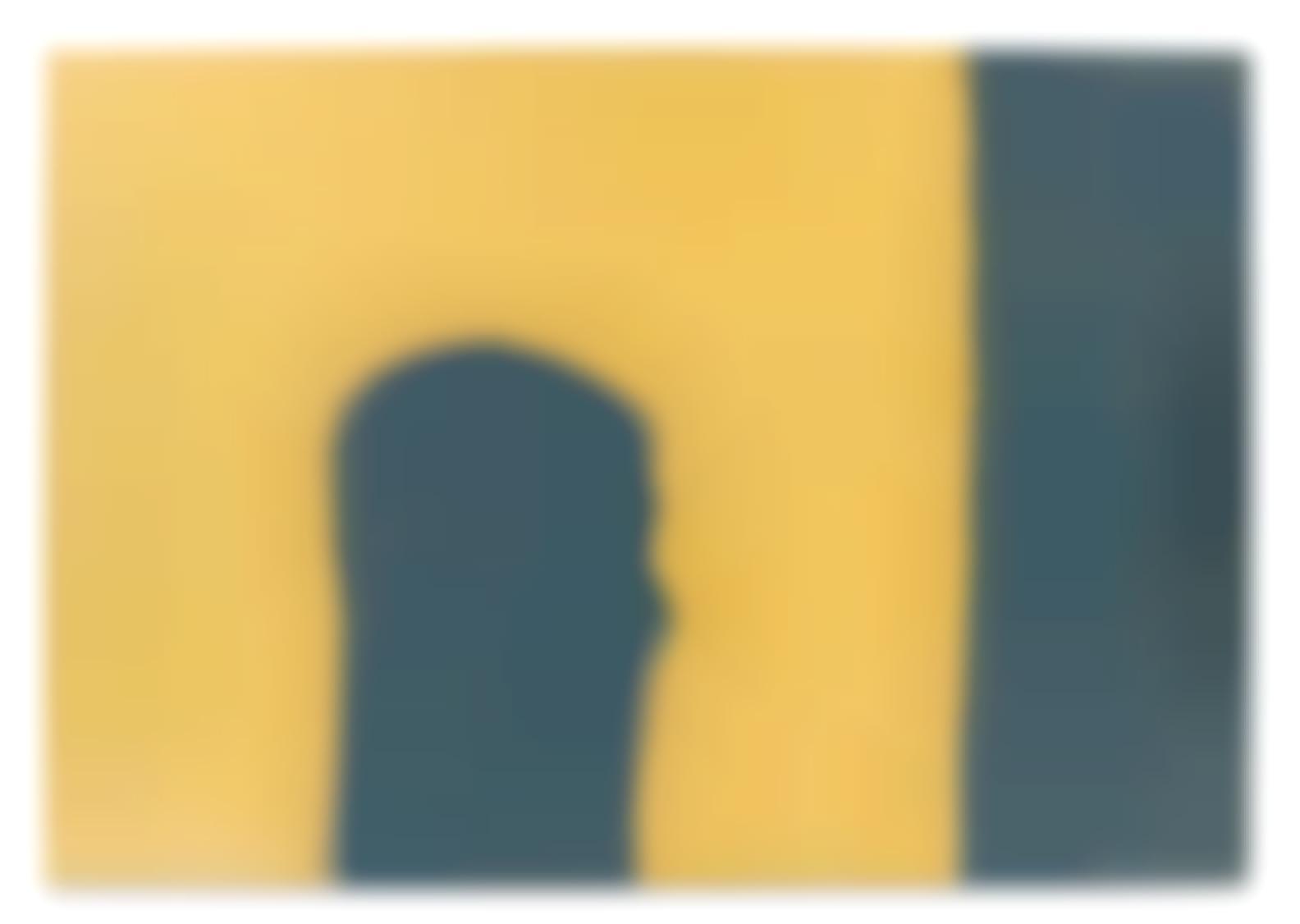 Paul Feeley-Blue On Yellow-1958