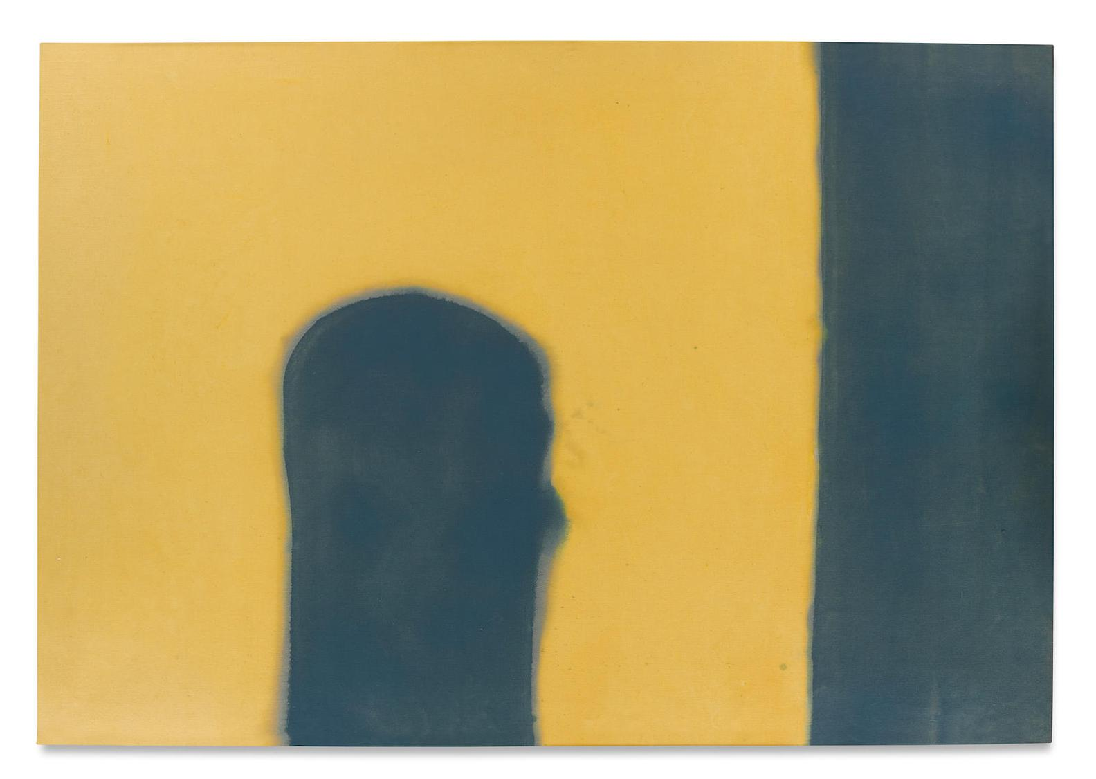 Paul Feeley-Blue On Yellow-1958