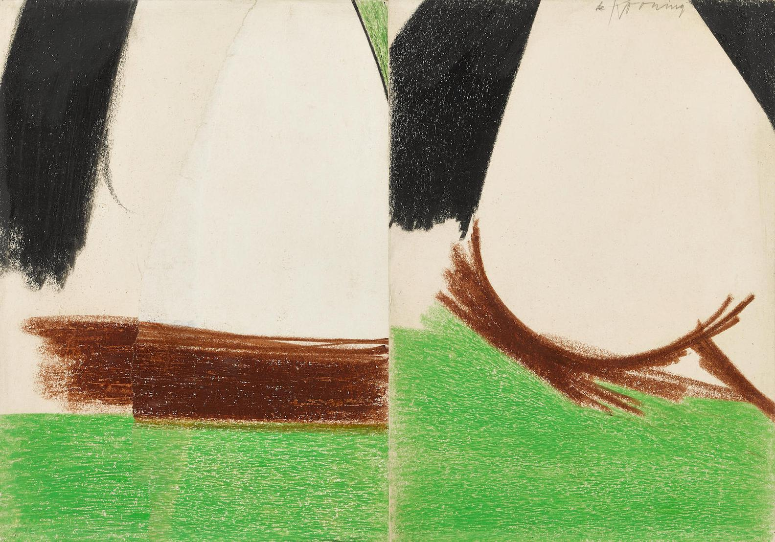 Willem de Kooning-Untitled (East Hampton)-1960