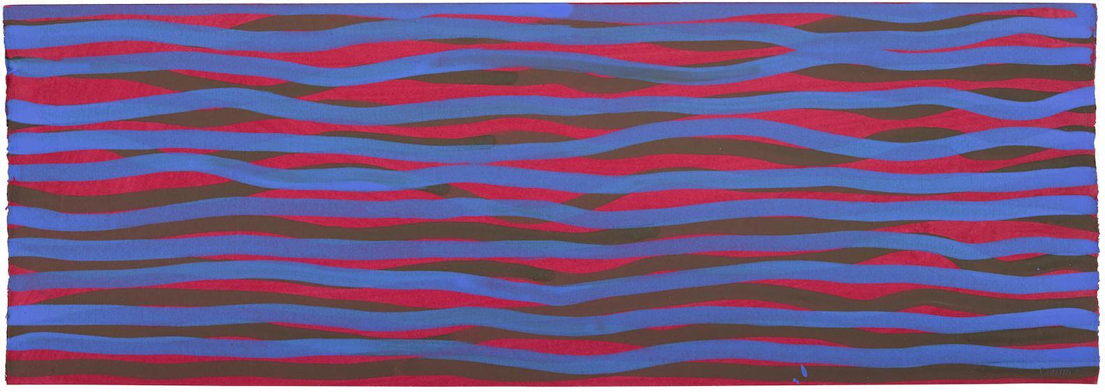 Sol LeWitt-Horizontal Brushstrokes (More Or Less)-2003