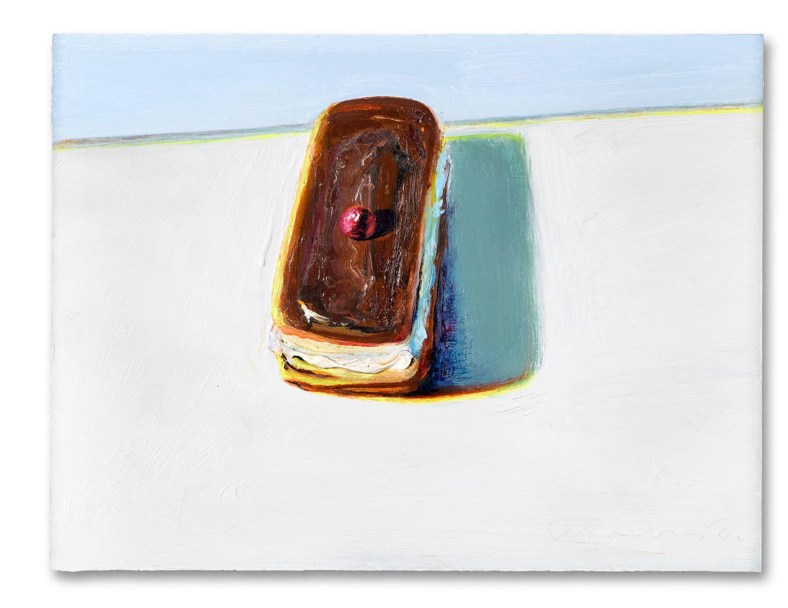 Wayne Thiebaud-Chocolate Eclair-2002