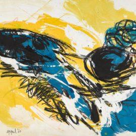 Karel Appel-Floating In Yellow Space,-1960