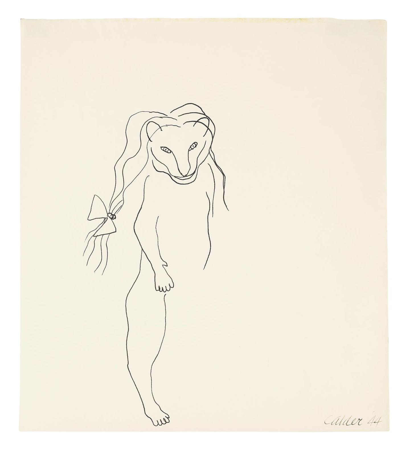 Alexander Calder-Little Lioness With Hair Ribbon-1944