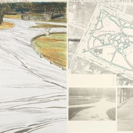 Christo and Jeanne-Claude-Wrapped Walk Ways (Project For St. Stephens Green Park In Dublin) (S. 111)-1983