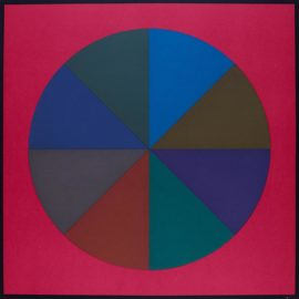 Sol LeWitt-Circles Divided Into Eight Equal Parts With Colors Superimposed In Each Part, Plate #01 (L. 1989.07; S-75)-1989