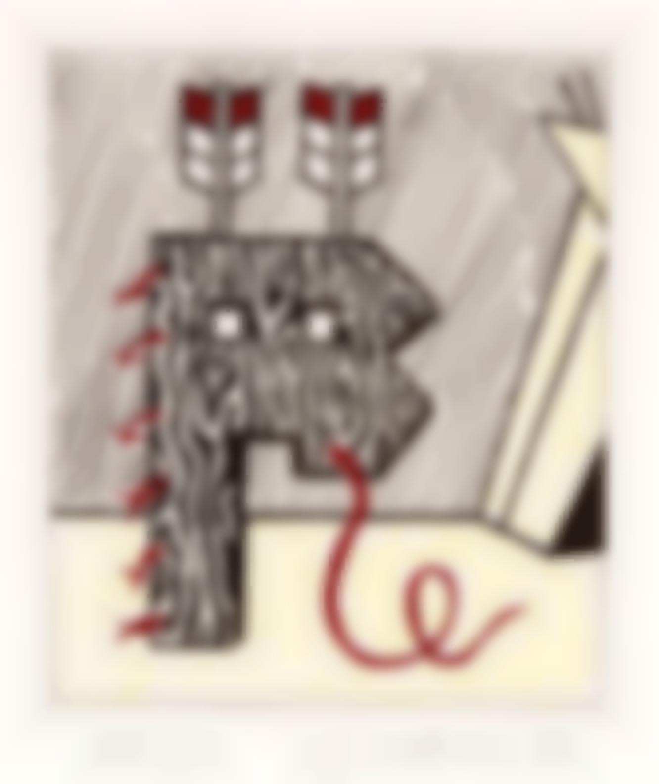 Roy Lichtenstein-Figure With Teepee (C. 167)-1980