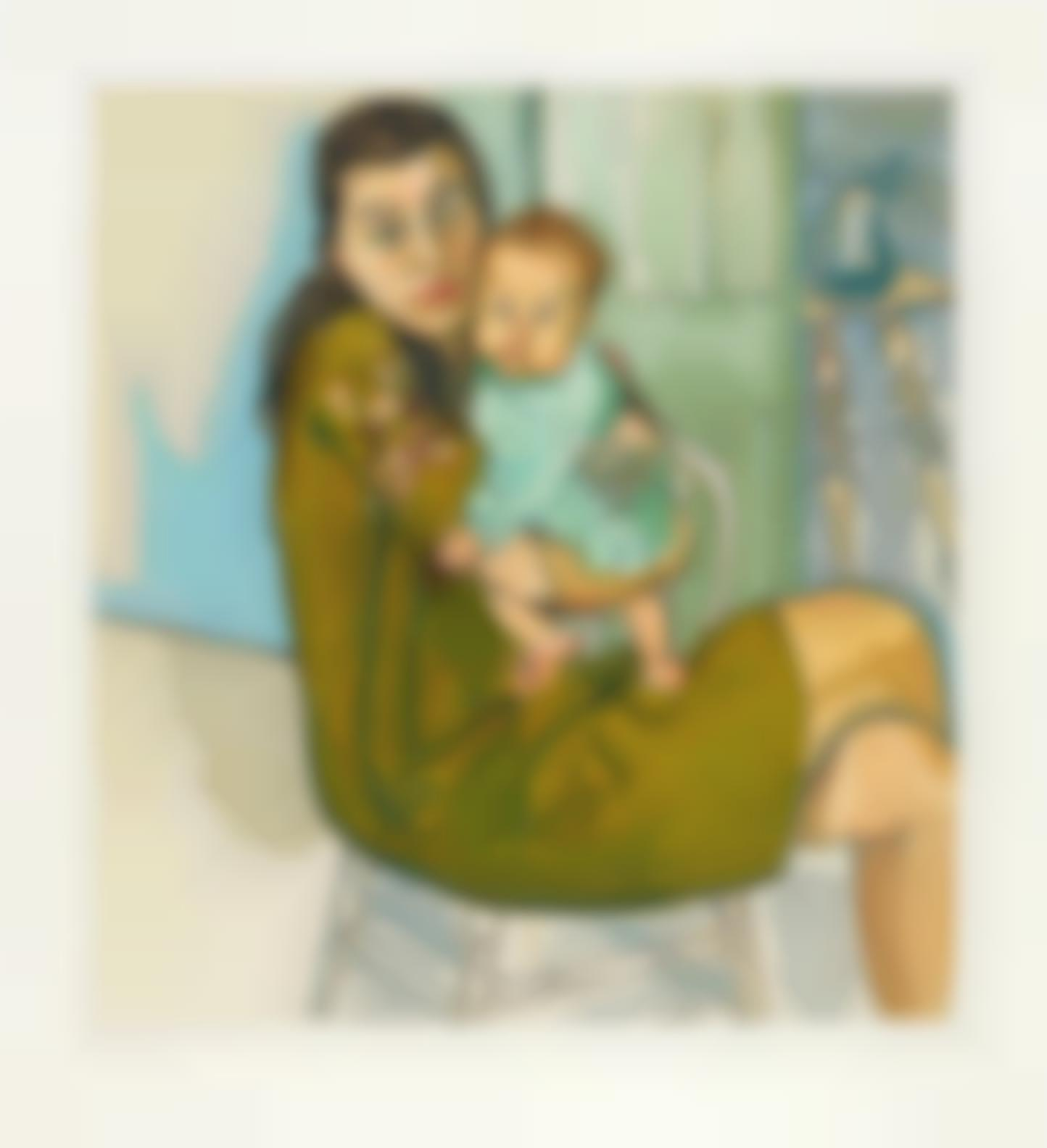 Alice Neel-Mother And Child (Nancy And Olivia)-1982