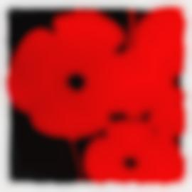 Donald Sultan-Big Red, Sept 14, 2014 (From Big Poppies)-2014