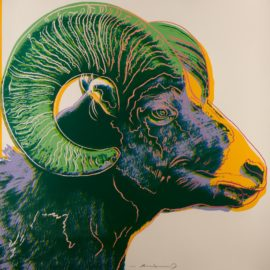Andy Warhol-Bighorn Ram, From Endangered Species (F. & S. II.302)-1983