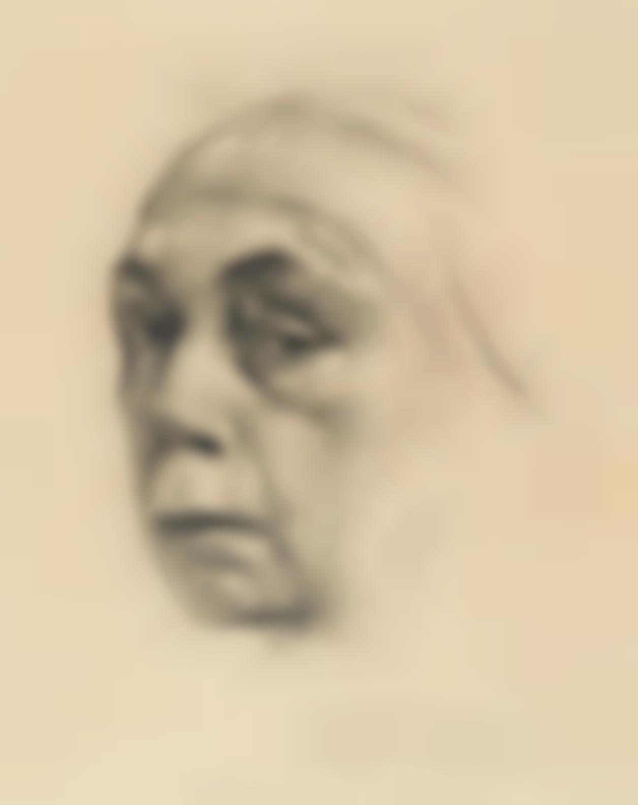 Kathe Kollwitz-Selbstbildnis (Self-Portrait) (K. 198; Kn. 209)-1924