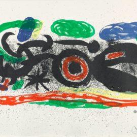Joan Miro-Loiseau Mangeant Le Feu (M. 626)-1969