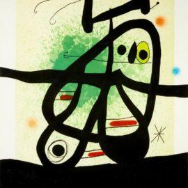 Joan Miro-Loiseau Mongol (D.513)-1969