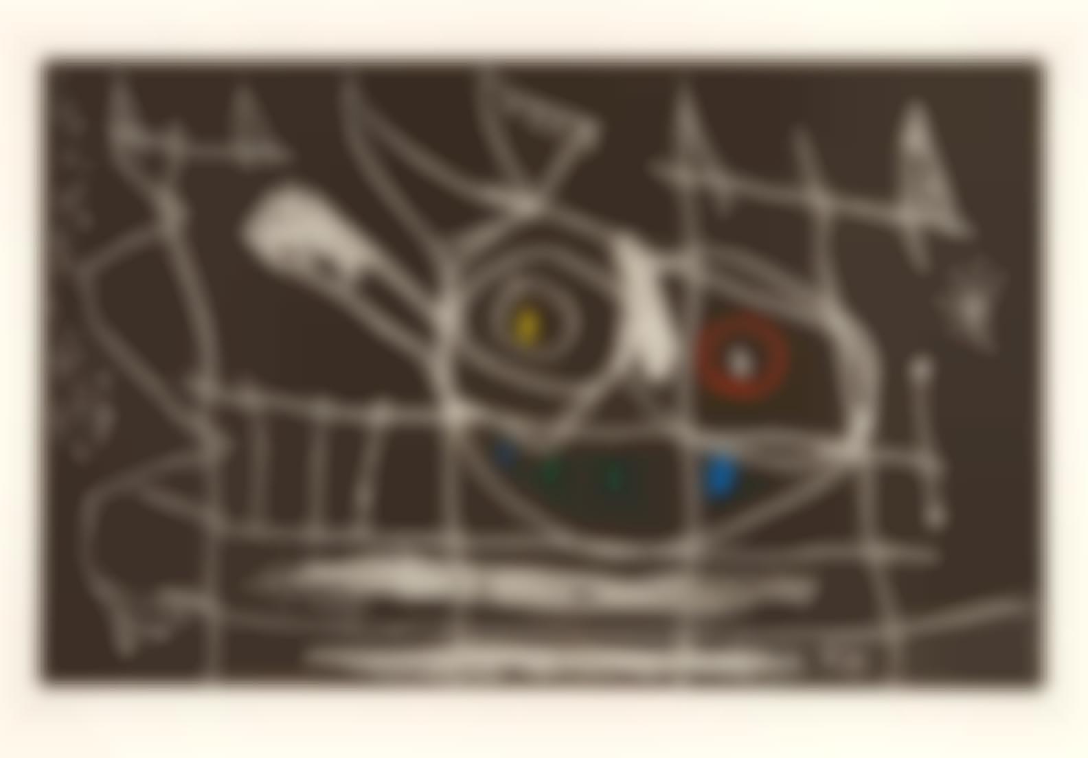 Joan Miro-Couple Doiseaux III (D. 416)-1966