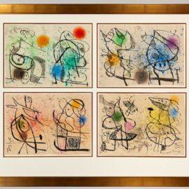 Joan Miro-Le Courtisan Grotesque (D. 660, 661, 663, 665, 667, 669, 671, 673)-1974