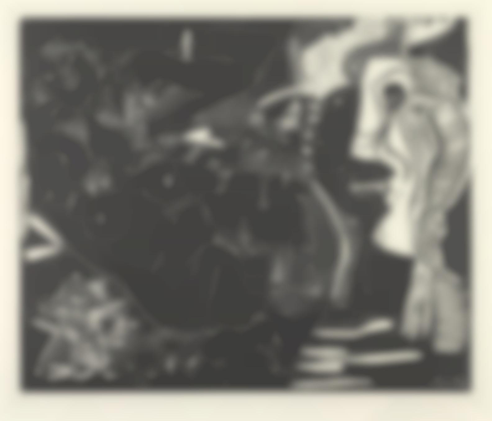 Pablo Picasso-Le The: Deux Femmes Nues Et Un Chat (B. 1851; Ba. 1358)-1965