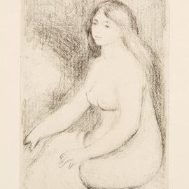 Pierre-Auguste Renoir-Baigneuse Debout A Mi-Jambes; Baigneuse Assise (D. 23; D. 11), 1897; 1919-1919