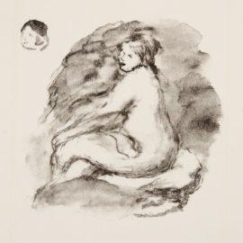 Pierre-Auguste Renoir-Etude De Femme Nue Assise Variante From Lalbum Des Douze Lithographes (D. 43), C. 1904-1904