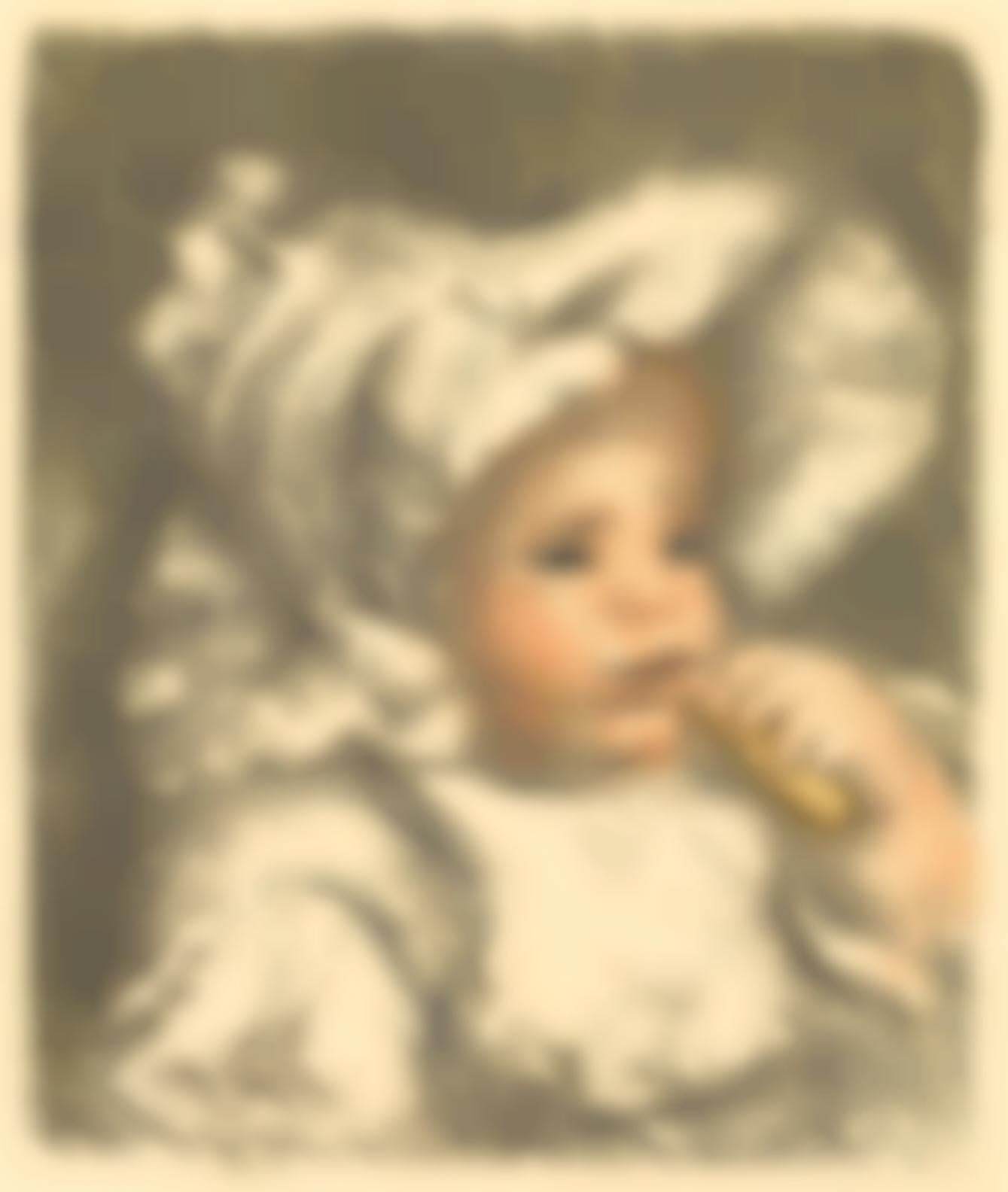 Pierre-Auguste Renoir-Lenfant Au Biscuit (Jean Renoir) (D. 31), C. 1898-99-1899