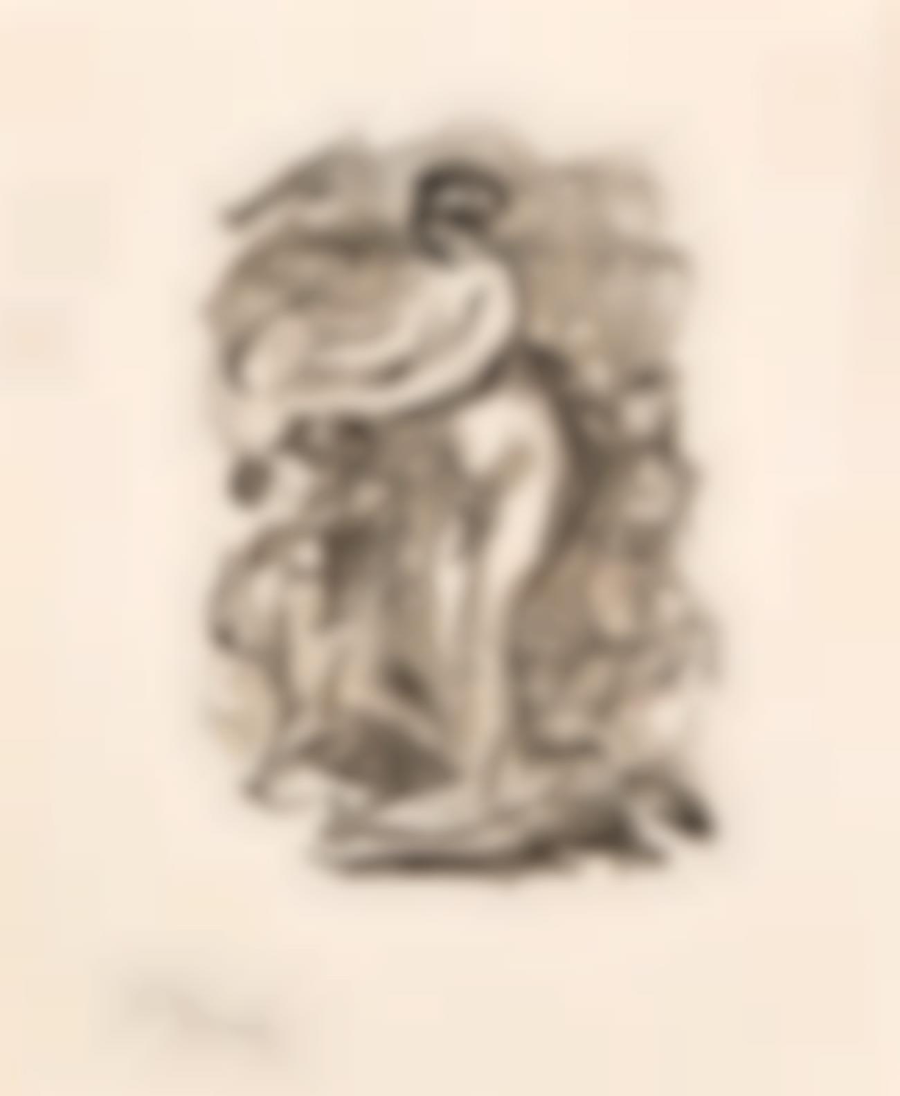 Pierre-Auguste Renoir-Femme Au Cep De Vigne, 1Ere Variante (D. 46), C. 1904-1904