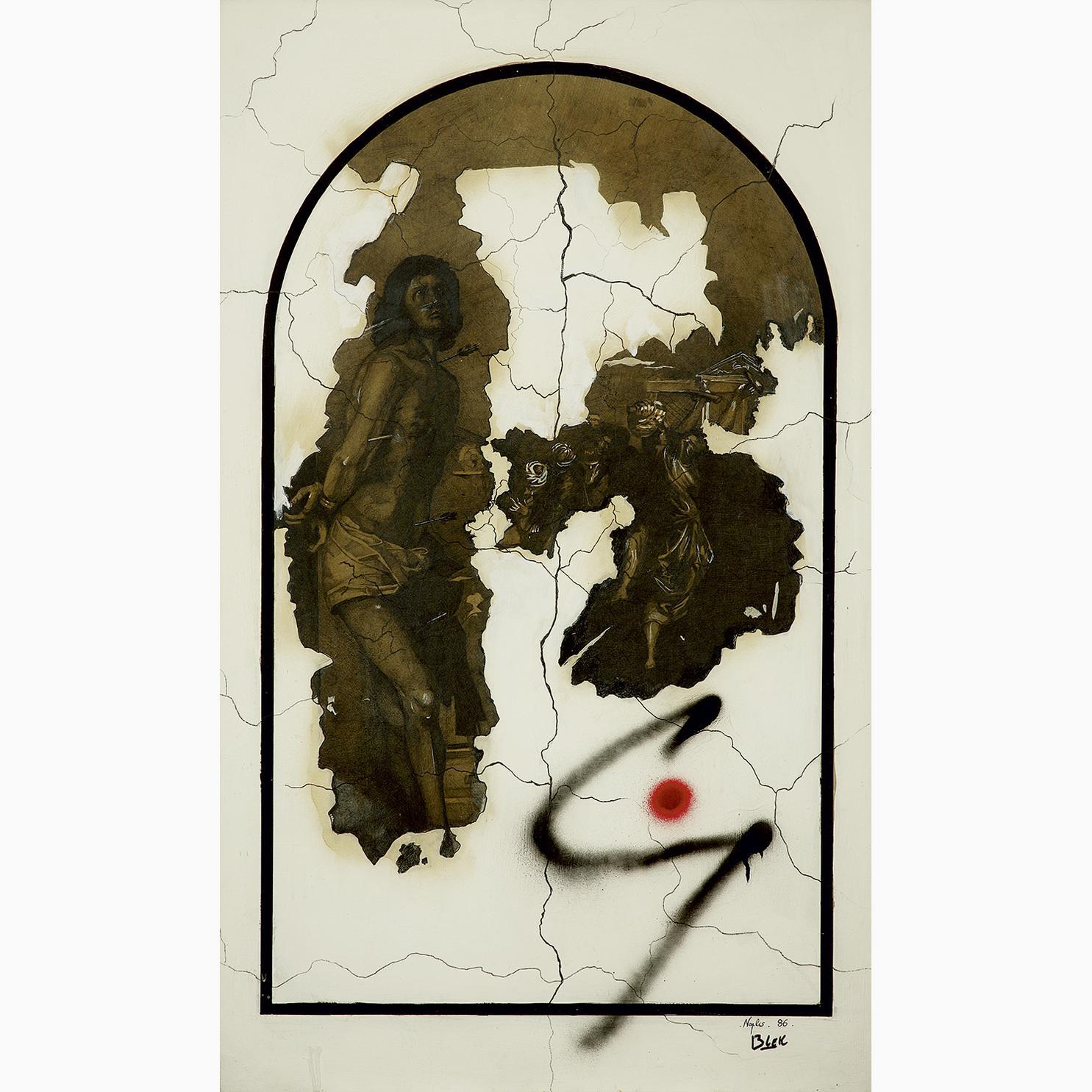 Blek le Rat-Saint Sebastien-1986