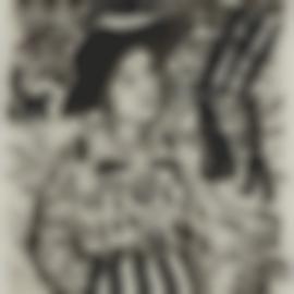 Gabriele Munter-Girl At The Lake-1917