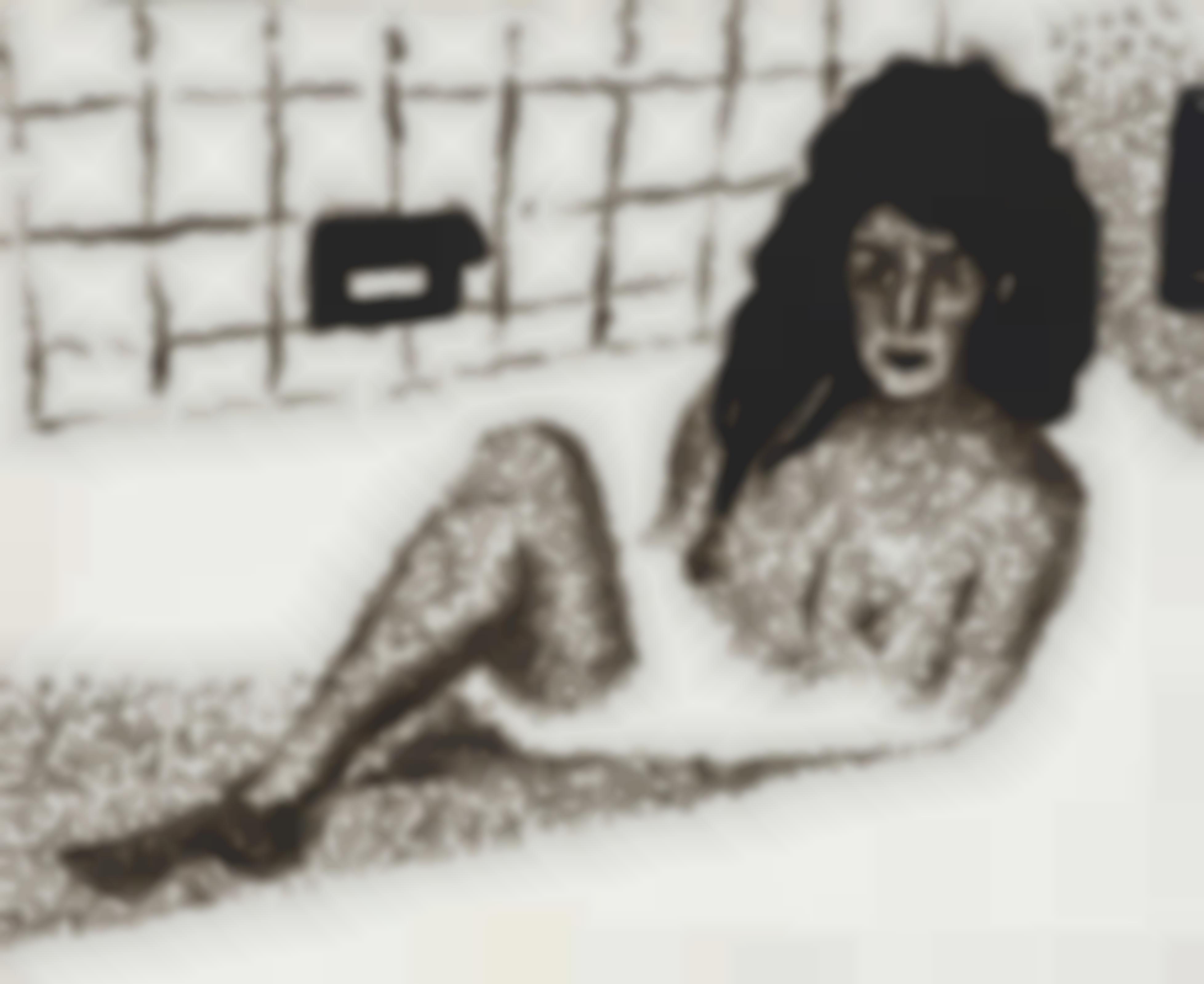 Jiri Georg Dokoupil-Untitled (Woman In Bathtub)-1991