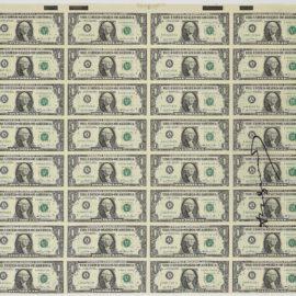 Andy Warhol-32 One-Dollar Bills