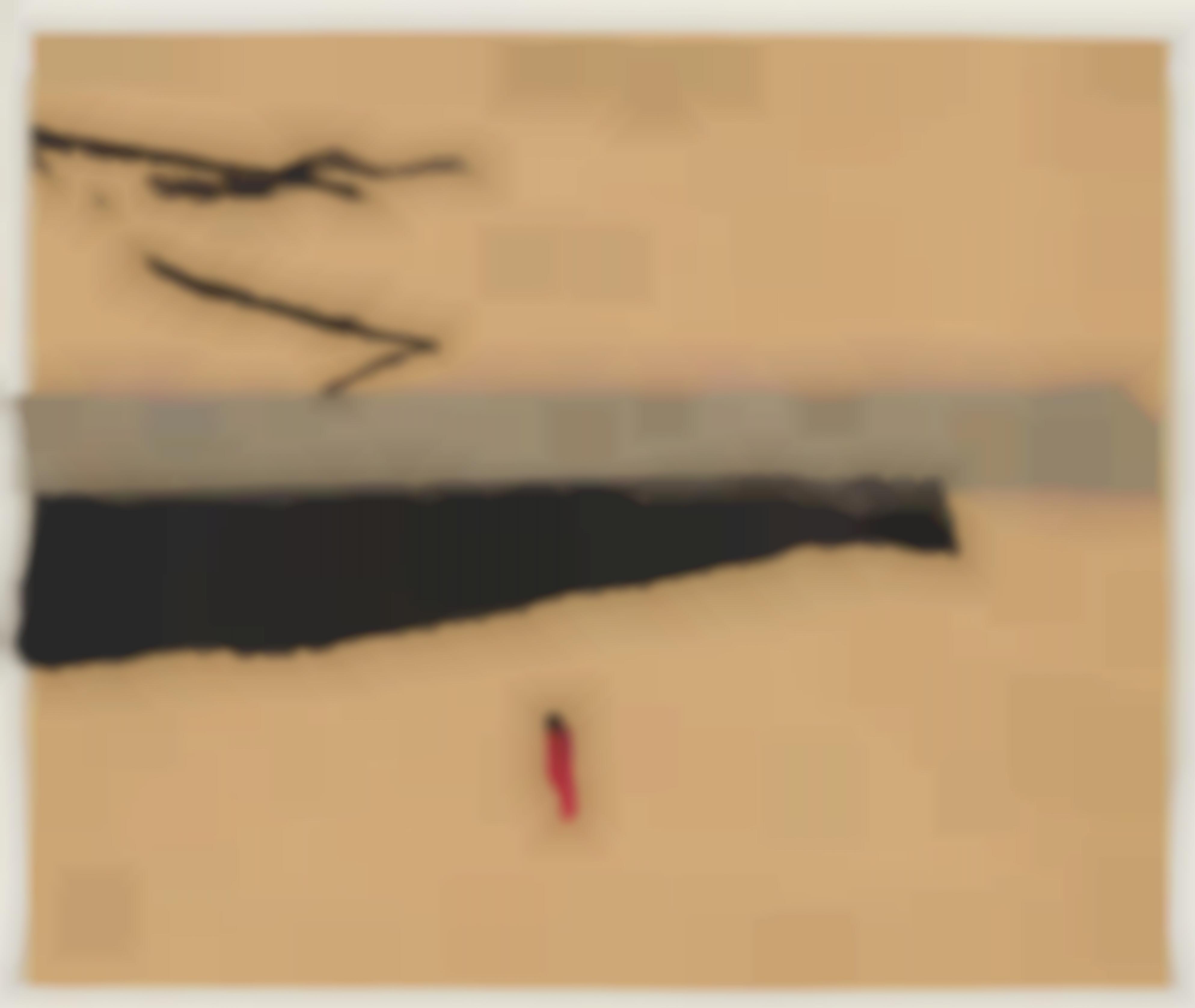 Karl Bohrmann - Parachutists. Red Figure In Landscape-1993