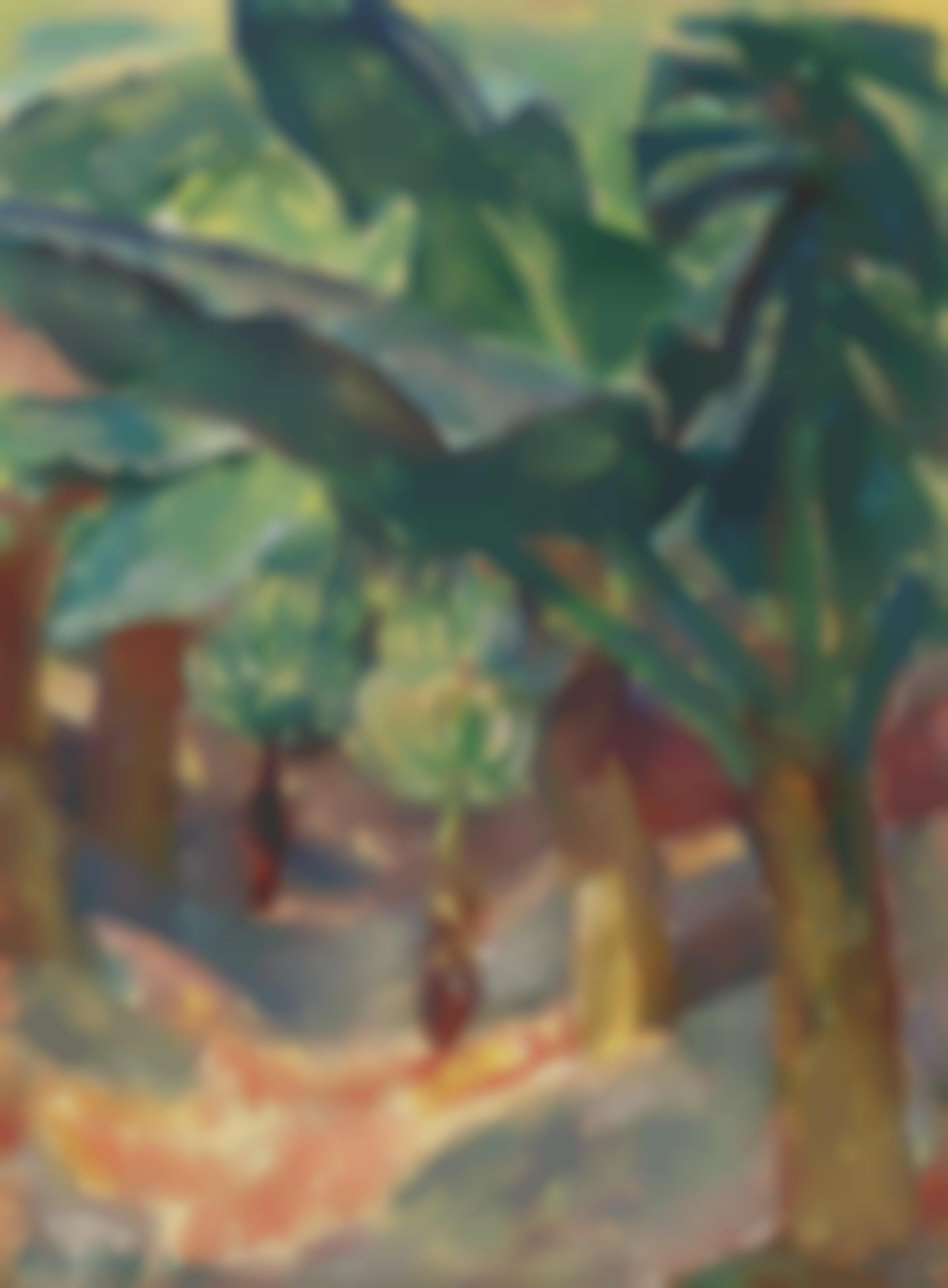 Leo Putz - Banana Trees (Rio)-1930