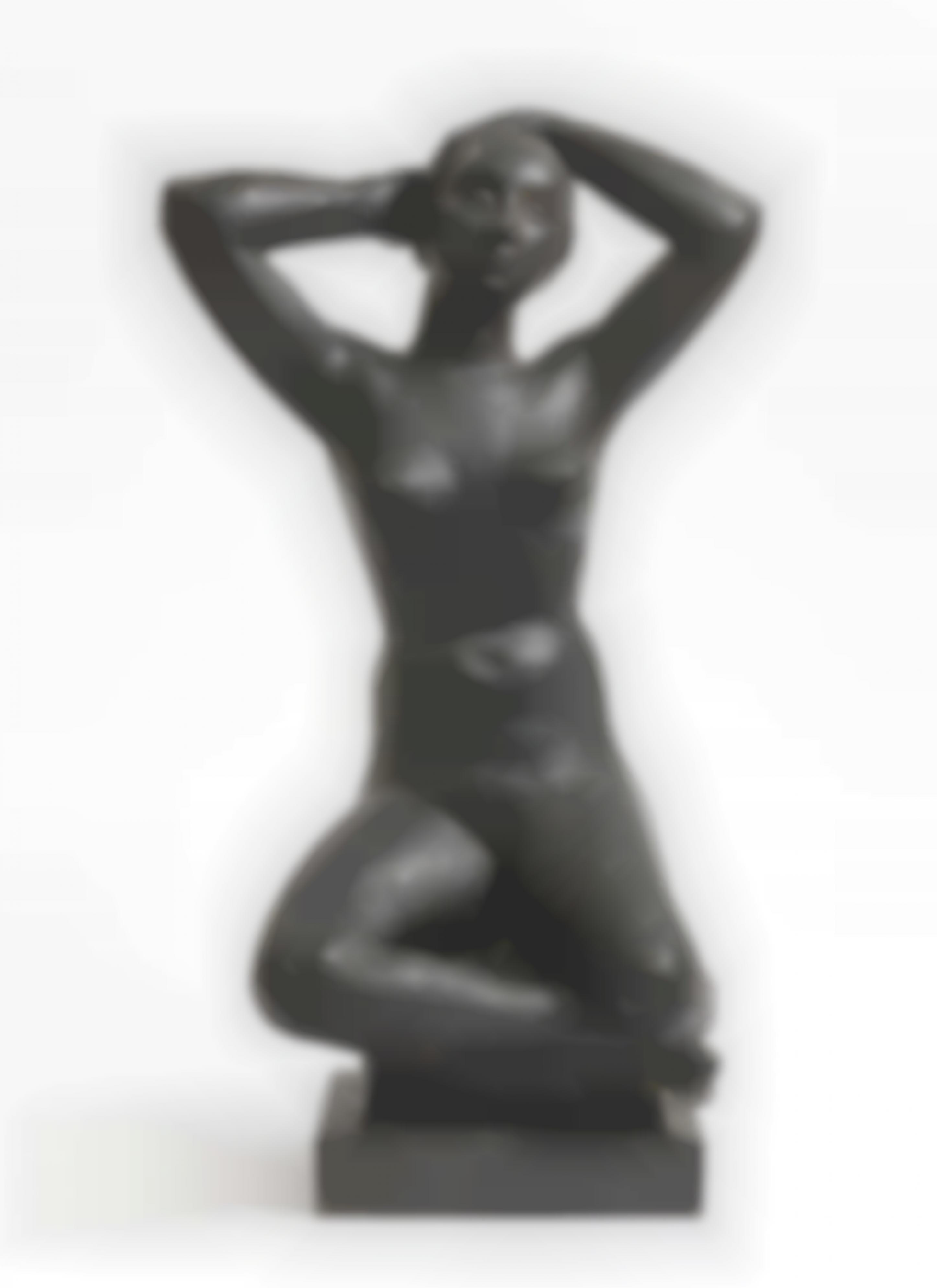 Herta Ottolenghi-Wedekind - Sitting Nude With Arms Raised-1933