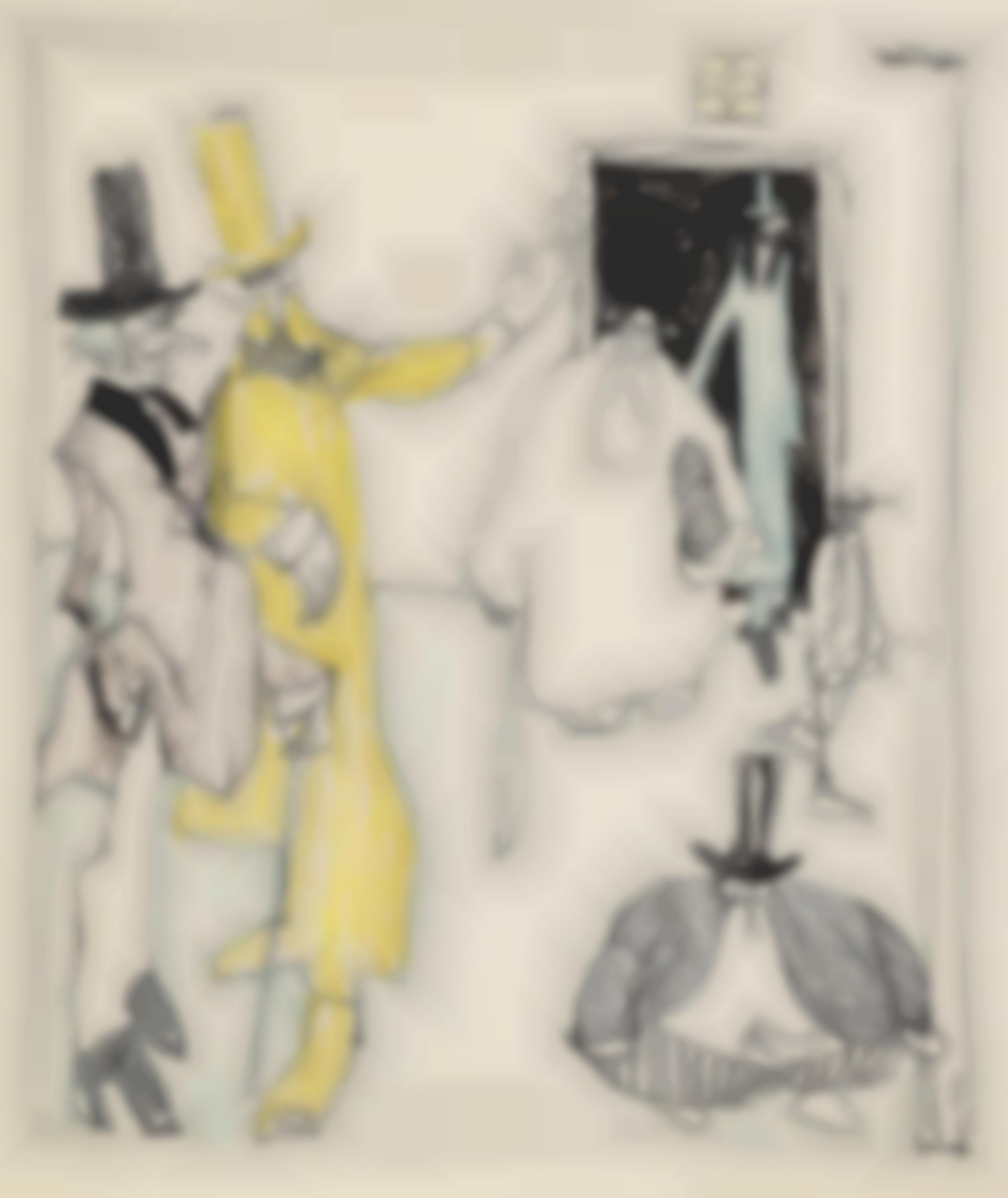 Lyonel Feininger-The Meeting.-