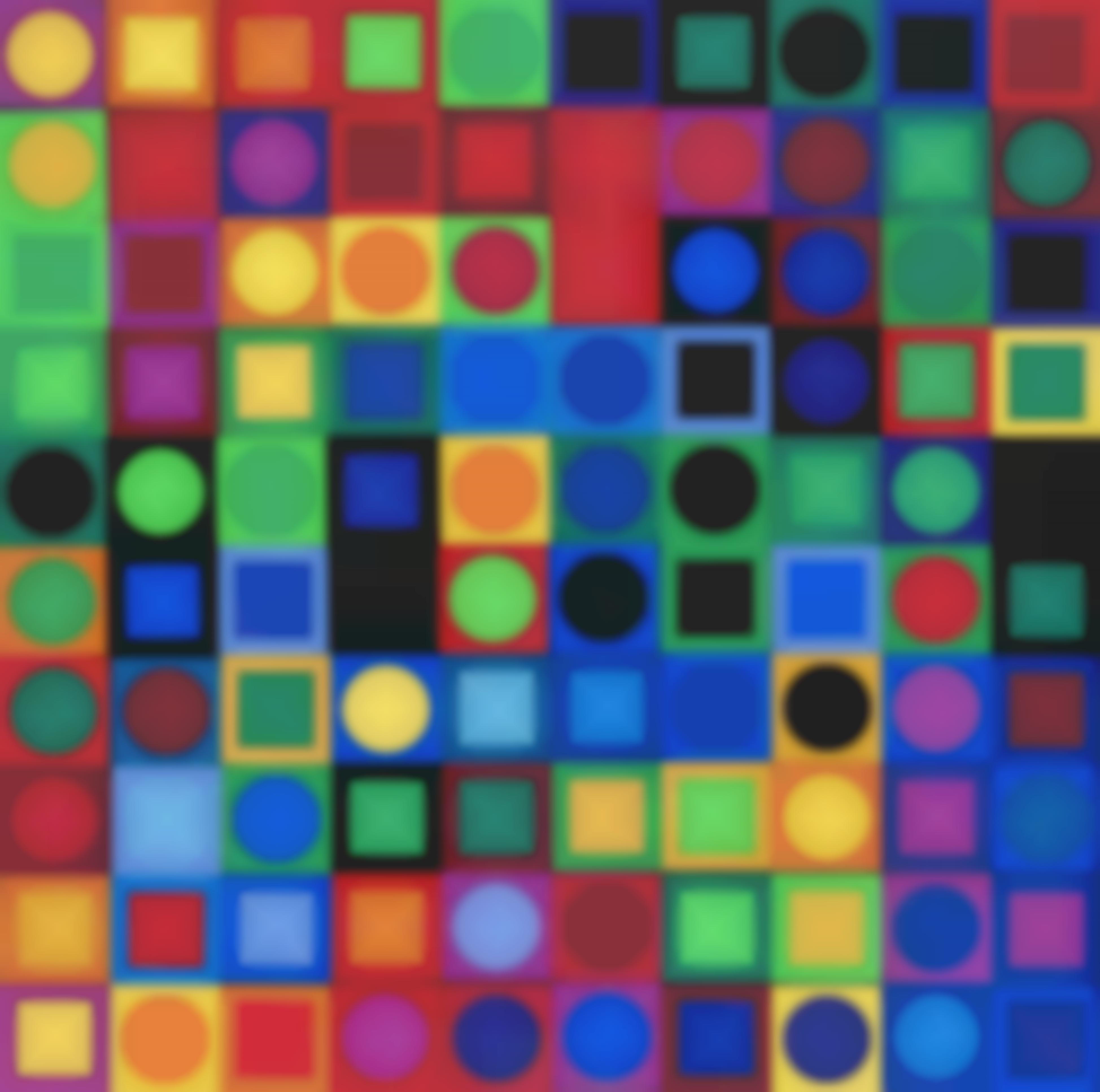 Victor Vasarely-Planetary Folklore Participations No 1-1969