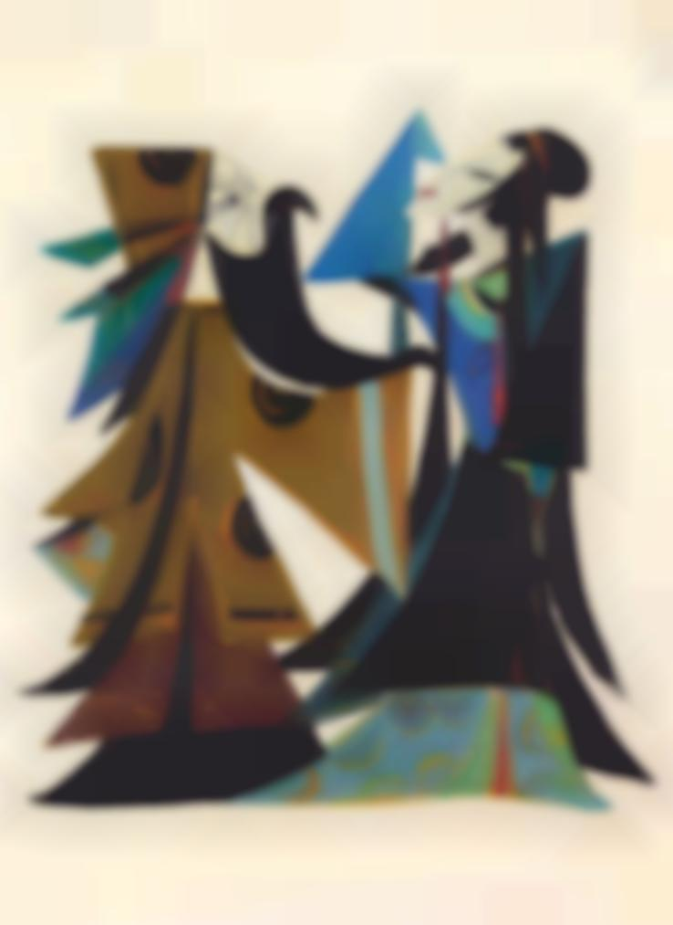 Lin Fengmian-Opera Series: Beauty Defies Tyranny-