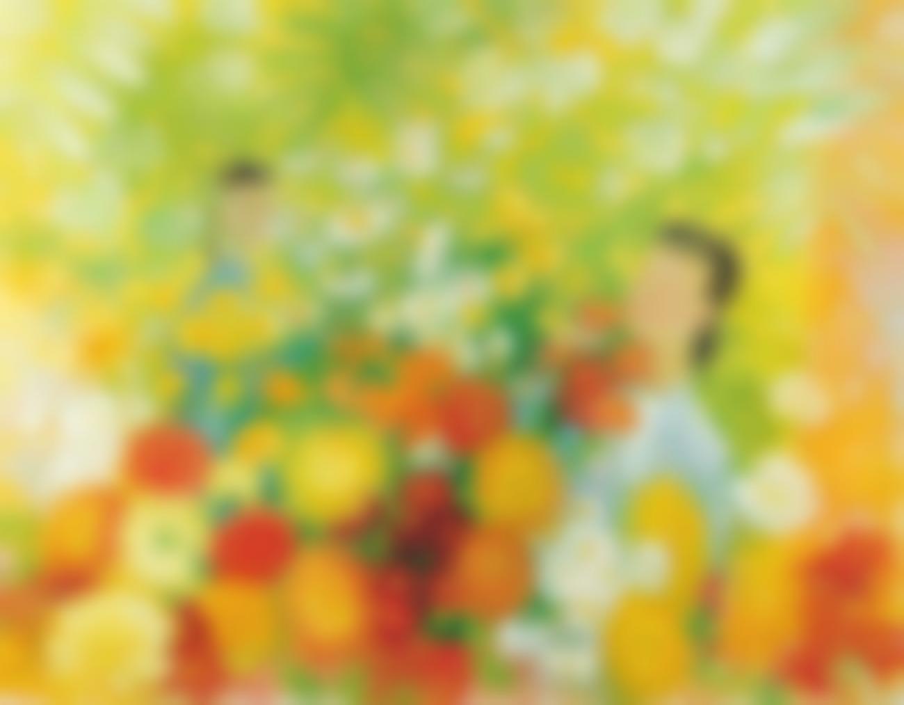 Le Pho-Deux Filles Dans Le Jardin (Two Girls In The Flower Garden)-1975