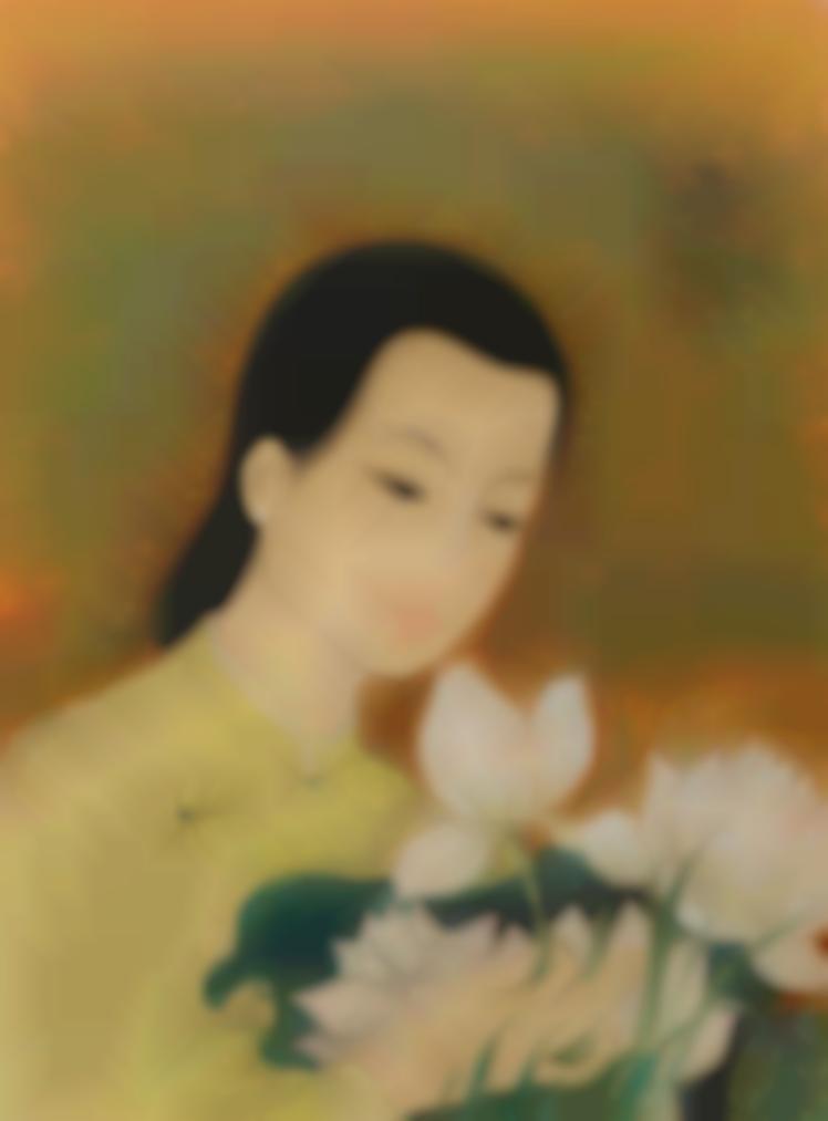 Le Pho-La Jeune Fille Aux Lotus (Young Woman With Lotus)-