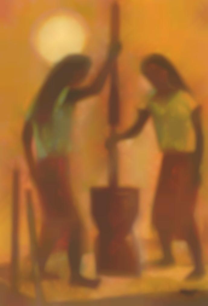Romeo Tabuena - Pounding Rice-1960