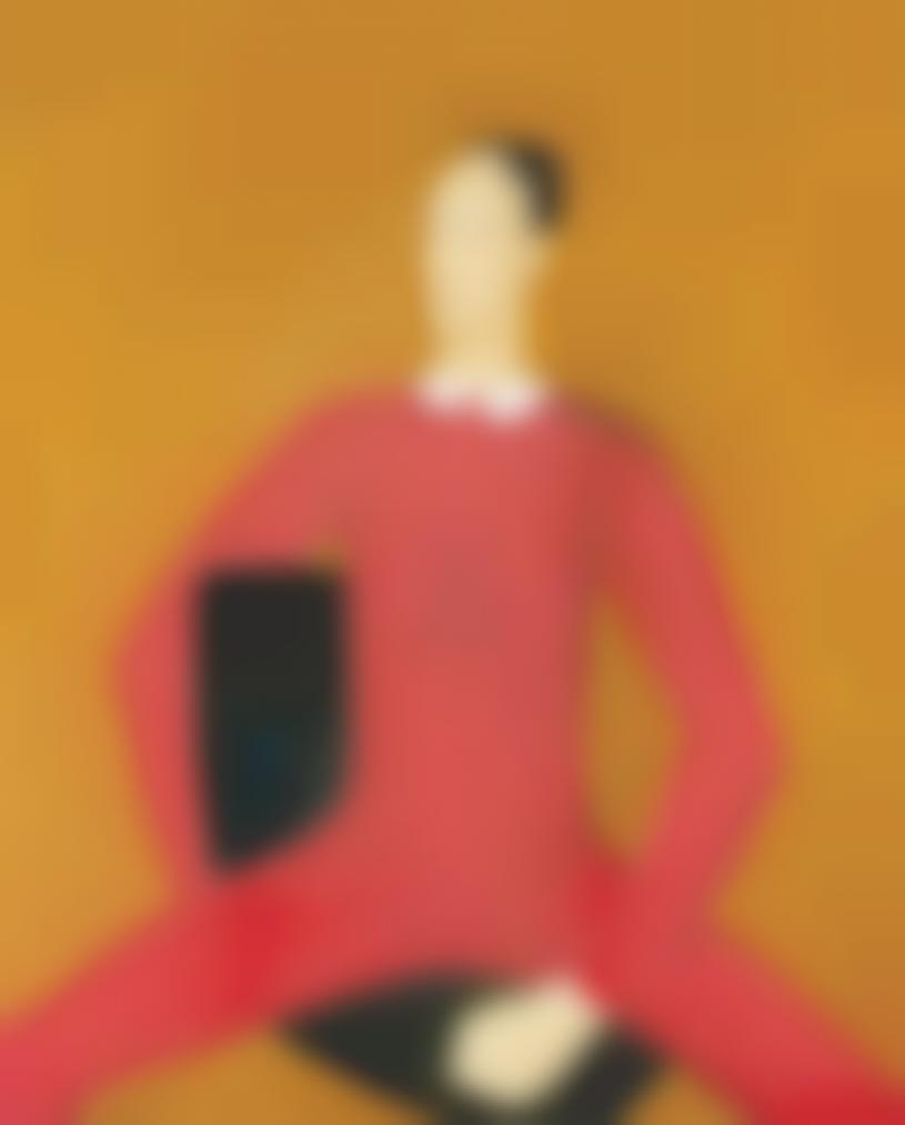 Qiu Yacai-Poet In Red-1985