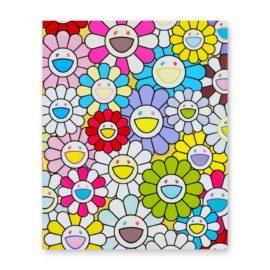 Takashi Murakami-A Little Flower Painting: Yellow, White, And Purple Flowers-2017