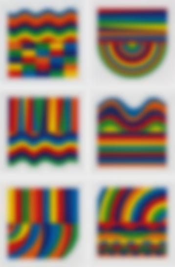 Sol LeWitt-Arcs And Bands In Color-1999