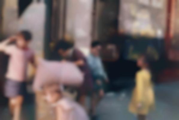 Helen Levitt-N.Y. (Children With Laundry)-1972