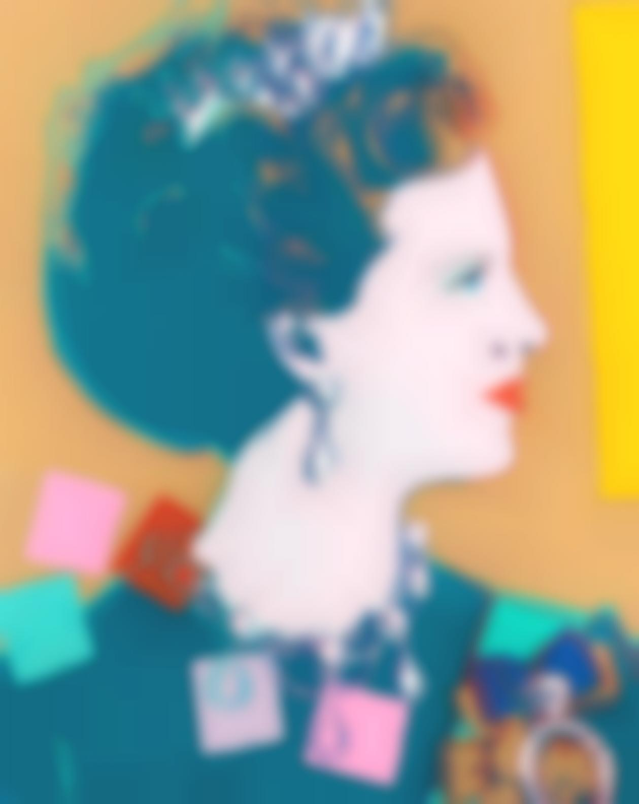 Andy Warhol-Queen Margrethe II, From Reigning Queens (Feldman & Schellmann Iib.342)-1985