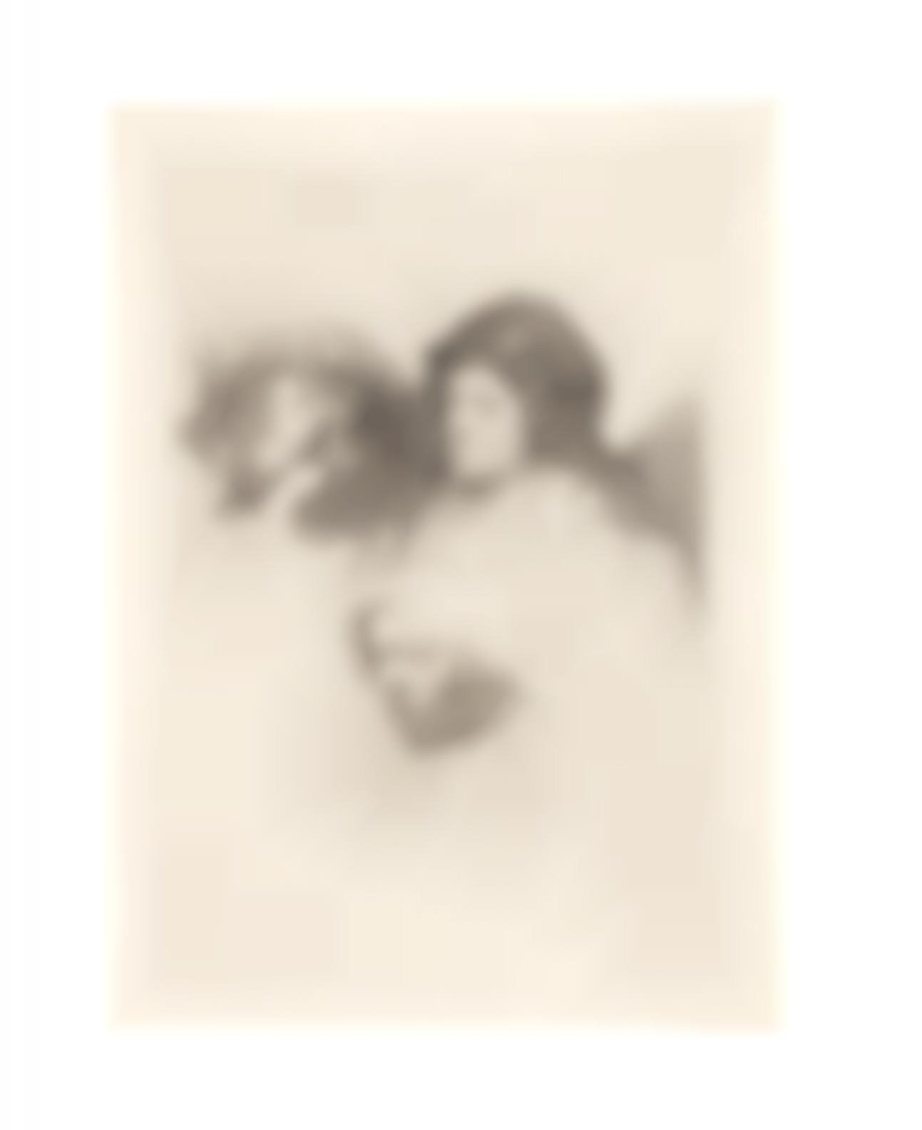Rembrandt van Rijn-Three Heads Of Women, One Asleep (Bartsch 368; New Hollstein 161)-1637