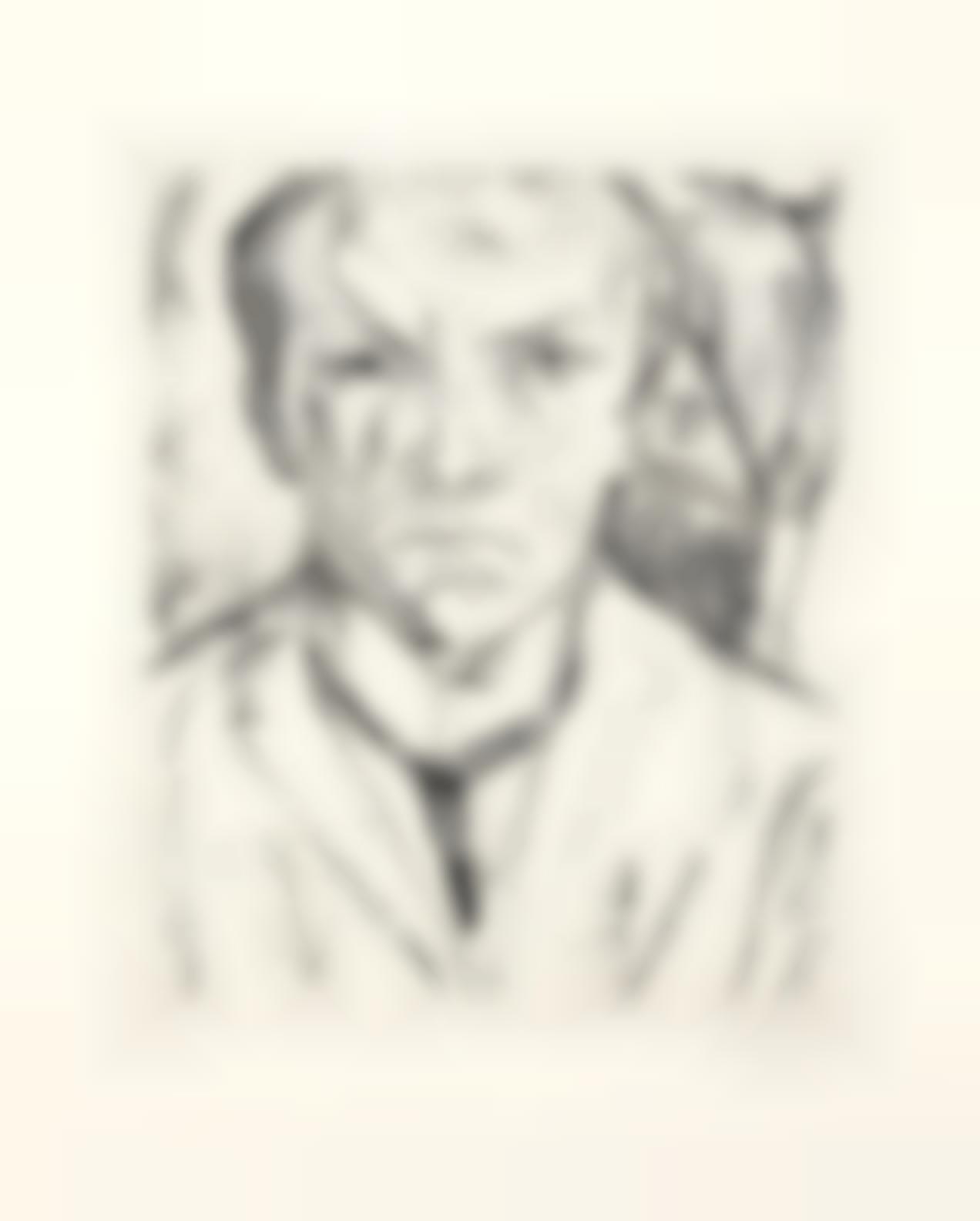 Max Beckmann-Selbstbildnis Von Vorn, Im Hintergrund Hausgiebel (Hofmaier125 Ii.B.B.)-1918